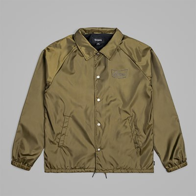 BRIXTON STITH JACKET OLIVE BLACK