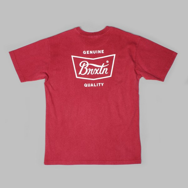 BRIXTON STITH SS T-SHIRT BURGUNDY