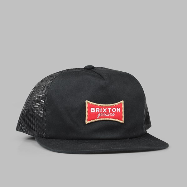 BRIXTON 'UNION' RAMSEY MESH CAP BLACK