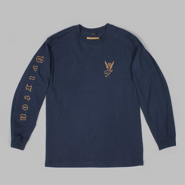 BRIXTON 'UNION' TEMPTRESS LS T-SHIRT NAVY