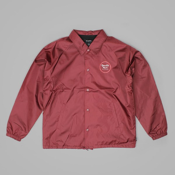 BRIXTON WHEELER JACKET BURGUNDY