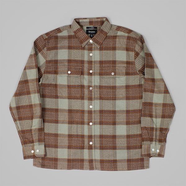 BRIXTON X JASON JESSEE MARTEL LS SHIRT BROWN