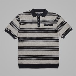 BRIXTON X JASON JESSEE MILPAS POLO SHIRT BLACK