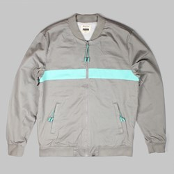 BWGH Color Block Varsity Jacket Frost Gray