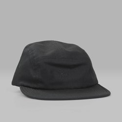 BY PARRA 5 PANEL SIGNATURE VOLLEY HAT BLACK