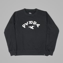 BY PARRA ARCH & BIRD CREW NECK SWEAT BLACK
