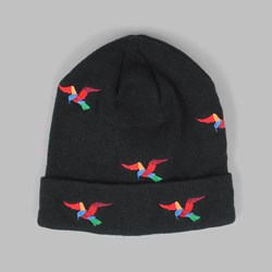 BY PARRA BIRDS BEANIE HAT BLACK