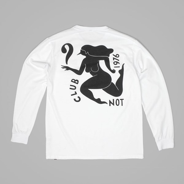 BY PARRA CLUB NOT LONG SLEEVE T SHIRT WHITE
