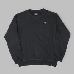 BY PARRA COLOURED BIRD CREW SWEAT BLACK