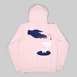 BY PARRA DISCARDED HOODED SWEAT WASHED PINK