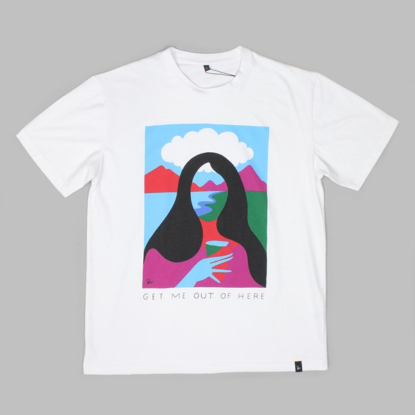 BY PARRA GET ME OUT OF HERE T-SHIRT WHITE