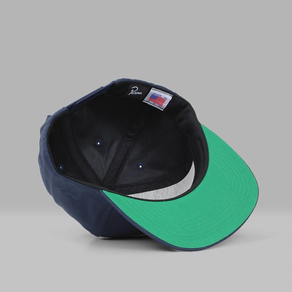 BY PARRA HAT ON HAT 5 PANEL SNAPBACK NAVY