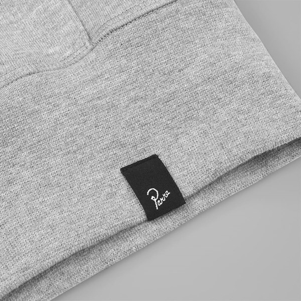BY PARRA HOODED FLEECE FLOCK P HEATHER GREY