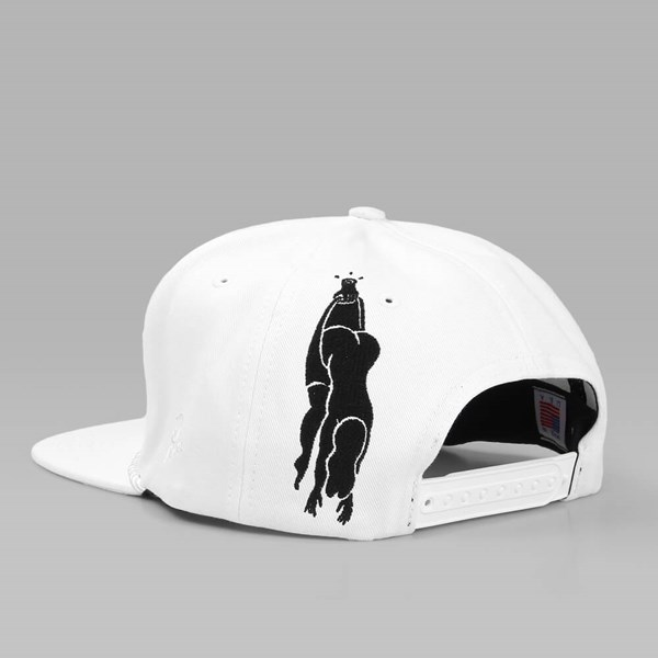 BY PARRA KING 6 PANEL HAT WHITE