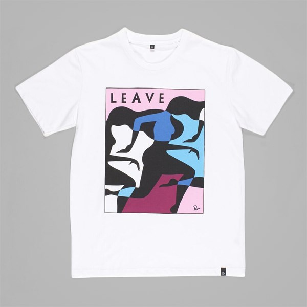 BY PARRA LEAVE T-SHIRT WHITE