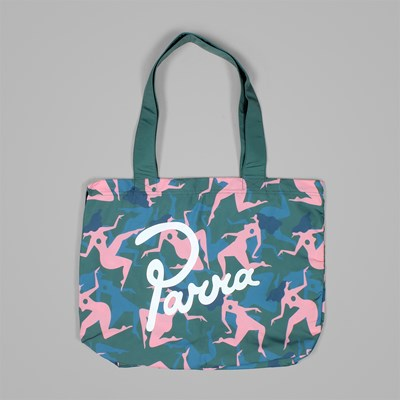 BY PARRA MUSICAL CHAIRS TOTE BAG GREEN
