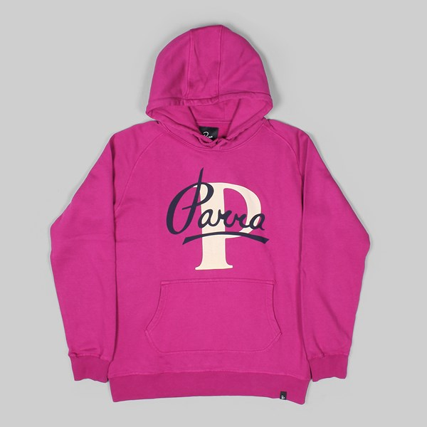 BY PARRA PAINTERLY SCRIPT HOODY PURPLE PINK