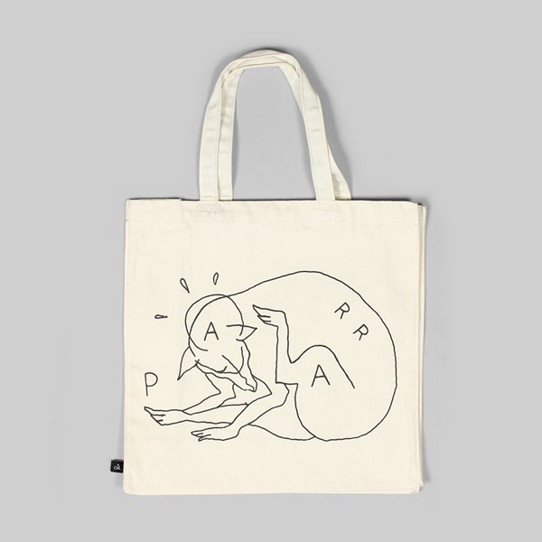 BY PARRA SCRATCH DOG TOTE BAG NATURAL