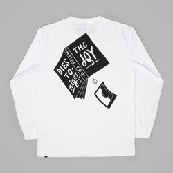 BY PARRA THE JOY INSIDE LONG SLEEVE TEE WHITE