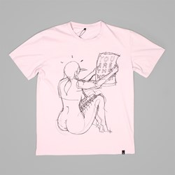 BY PARRA THE WORST SS TEE STONEWASHED PINK
