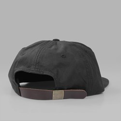 BY PARRA WAXED WINGS 6 PANEL CAP BLACK