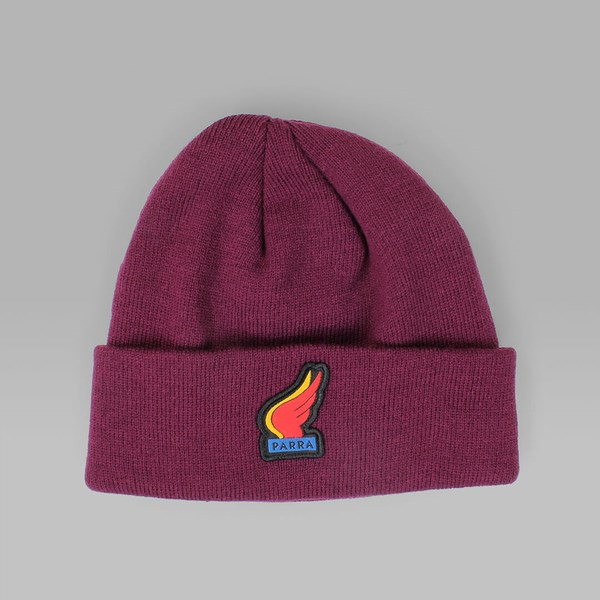 BY PARRA WINGS BEANIE EGGPLANT
