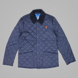 BY PARRA WINGS QUILTED JACKET NAVY