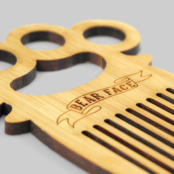Bear Face Duster Beard Comb