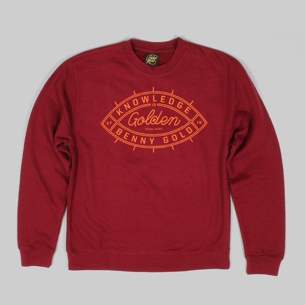 Benny Gold Golden Eye Crewneck Sweatshirt Burgundy