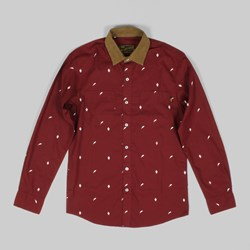 Benny Gold Scholar Pattern Long Sleeve Shirt Rust
