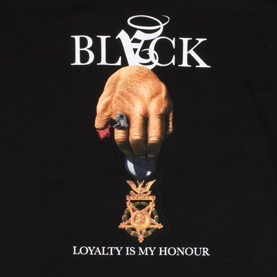 Black Scale Loyalty Is My Honour T Shirt Black White