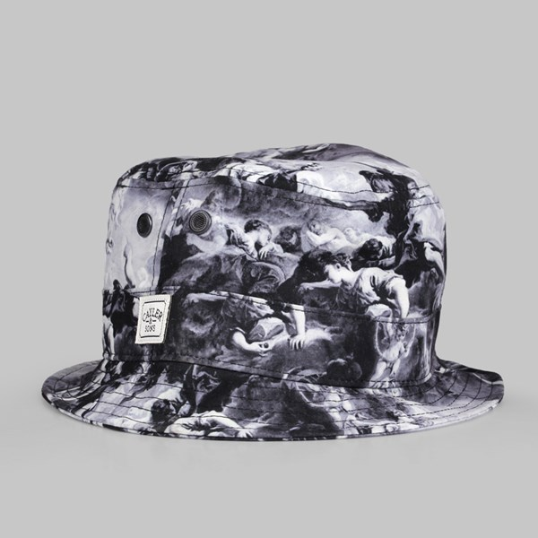 C&S Fear God Bucket Hat Black White
