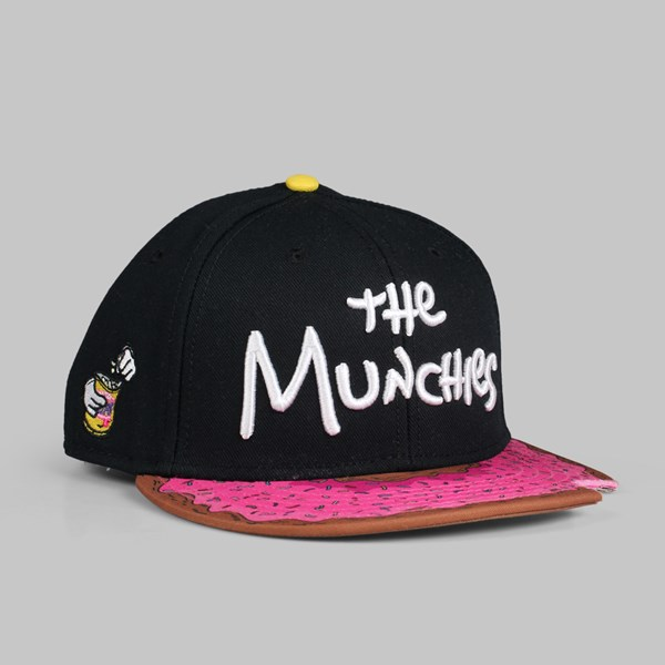 C&S Munchies Cap Black Pink Donut