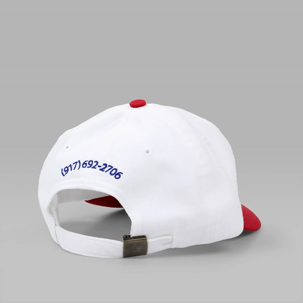 CALL ME 917 'CALL ME' CAP WHITE RED