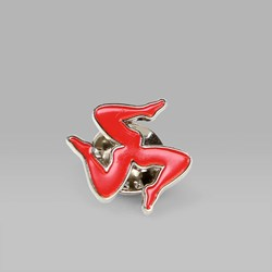 CALL ME 917 'LEGS' PIN BADGE RED
