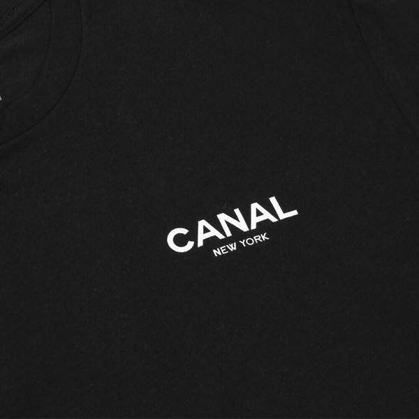 CANAL NEW YORK FILM FESTIVAL LOGO TEE BLACK