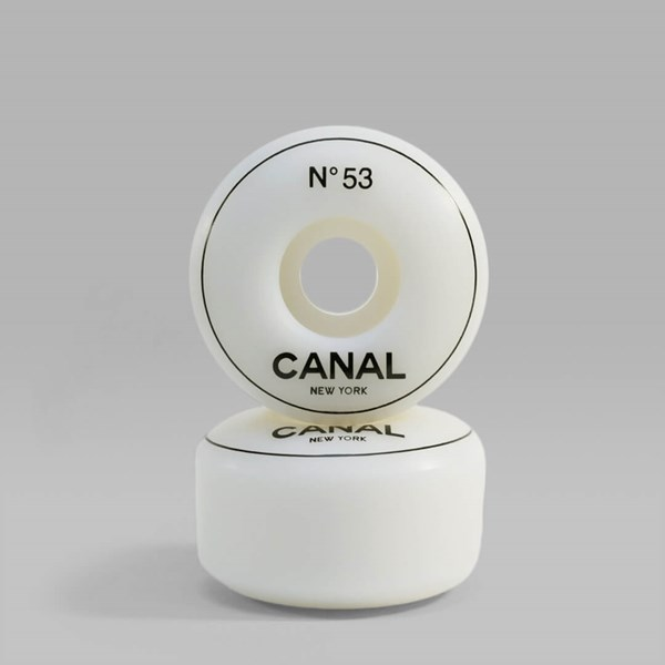 CANAL WHEELS 53MM WHITE