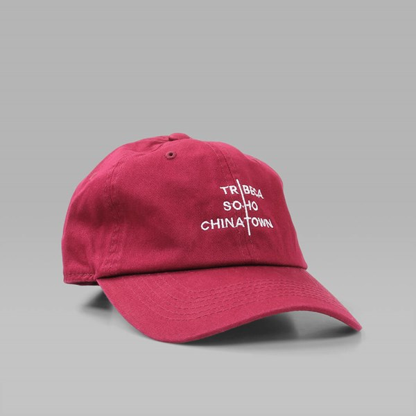 CANAL WHEELS FILM CREW CAP RED WINE