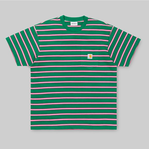 CARHARTT HOUSTON SS POCKET T-SHIRT STRIPE DRAGON