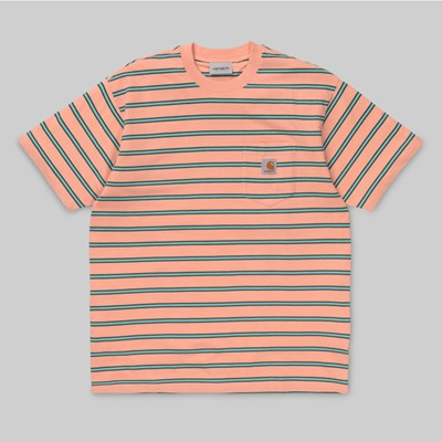 CARHARTT HOUSTON SS POCKET T-SHIRT STRIPE PEACH