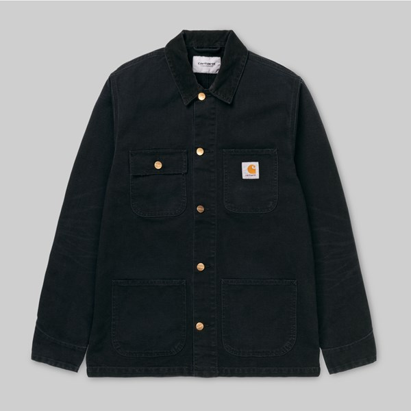 CARHARTT MICHIGAN COAT BLACK AGED CANVAS