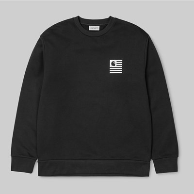 CARHARTT STATE PATCH CREW SWEAT BLACK
