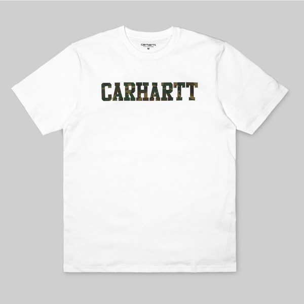 CARHARTT SS COLLAGE T-SHIRT WHITE CAMO LAUREL