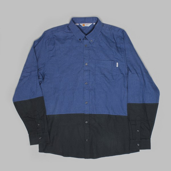 CARHARTT ALLEN LONG SLEEVE SHIRT JUPITER HEATHER/CADET HEATHER
