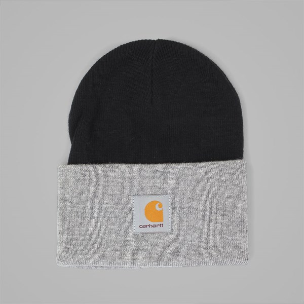 CARHARTT BI-COLOUR ACRYLIC WATCH BEANIE BLACK
