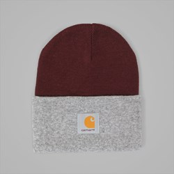 CARHARTT BI-COLOUR ACRYLIC WATCH BEANIE CHIANTI