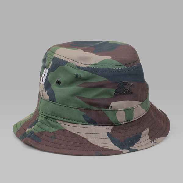 CARHARTT BUCKET HAT CAMO GREEN