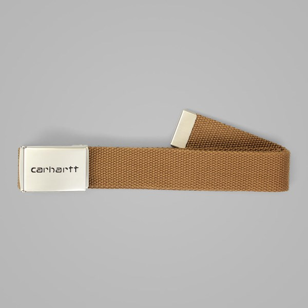 CARHARTT CANVAS BELT CHROME HAMILTON BROWN