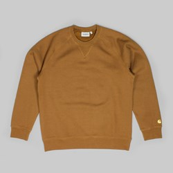 CARHARTT CHASE CREW SWEAT HAMILTON BROWN GOLD
