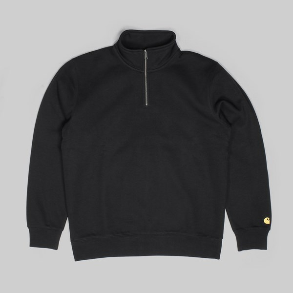CARHARTT CHASE HIGHNECK SWEAT BLACK GOLD